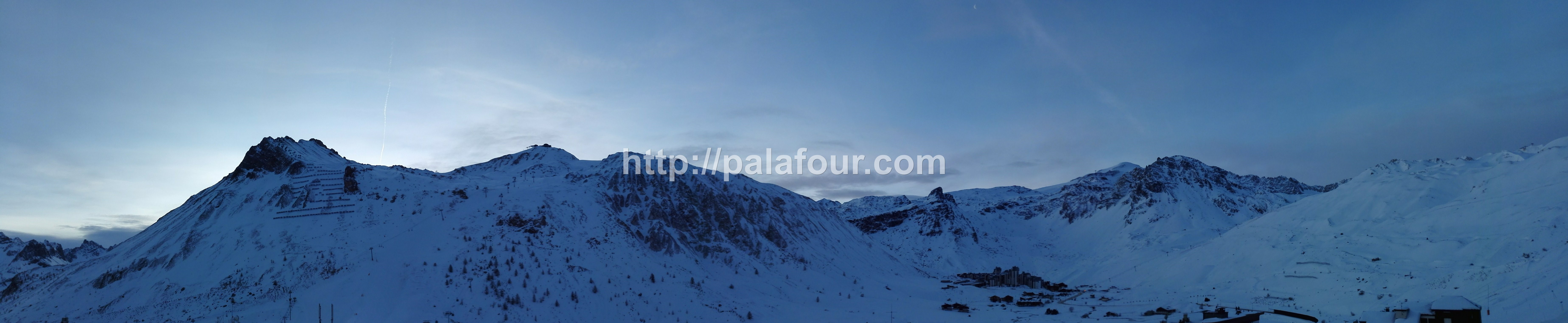 Tignes - Landscape - Panorama le matin